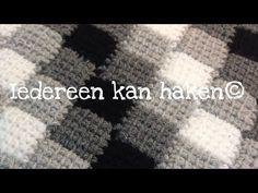 Iedereen kan haken© Woondeken Entrelac Tunisch DIY blokjesdeken (different languages subtitled) DIY - YouTube