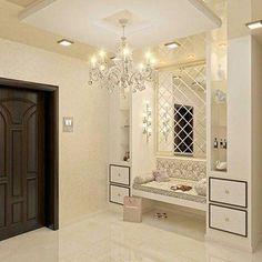 Bedroom Closet Design, Home Room Design, Interior Design Living Room, Contemporary Fireplace Designs, Contemporary Interior Design, Entrance Hall Decor, Dining Area Design, Drawing Room Interior, Bedroom Seating