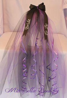 BACHELORETTE Bridal Veil Bridal Shower Veil by MiaBellaBoutiquePA