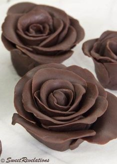how to make chocolate roses...too pretty not to try
