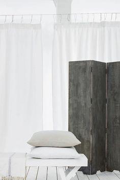 -Mango Trestle Coffee Table http://po.st/j7qw6z  -Denim Cushion http://po.st/i1P9ct -Mango Folding Scren http://po.st/9jpfrS -Ticking Linen Throw http://po.st/06lFjZ
