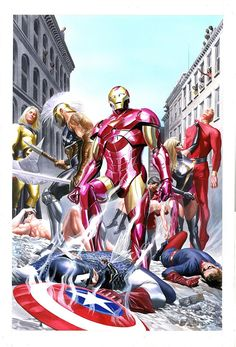 Dark Avengers vs The Invaders by Alex Ross