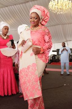 I love anything Coral #nigerianwedding #gele bride