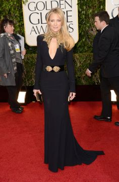 Kate Hudson in a jawdroppingly-beautiful McQueen gown at the Golden Globes