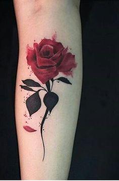 Image about art in tatoo 😻👅 by Anaîs Henrondale Flower Tattoos, Leaf Tattoos, Body Art Tattoos, Small Tattoos, Tatoos, Tattoo Ink, Rose Stem Tattoo, Tatoo Rose, Tatuajes Tattoos