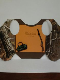 Inside of Hunting Vest Birthday card made by Donna Garvin