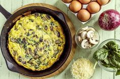The great thing about a frittata is that you can cut it into wedges to eat warm as a healthy snack or enjoy it cold the following day.