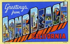 Long Beach postcard