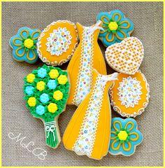Spring Wedding Cookies