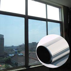 Серебро оконная пленка один путь зеркало изоляции стикер Солнечная светоотражающие Солнцезащитные конфиденциальности оттенок стены стекло пленка 50cmx1m
