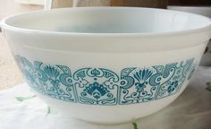 Pyrex Horizon Blue 403 Nesting bowl mixing bowl Pyrex blue and white bowl collectible on Etsy, $14.00
