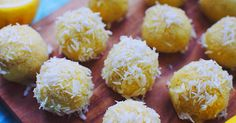 These Vegan Raw Lemon Bites With Coconut are perfectly sweet, bite sized vegan nuggets of fun! Great for parties or snacking.