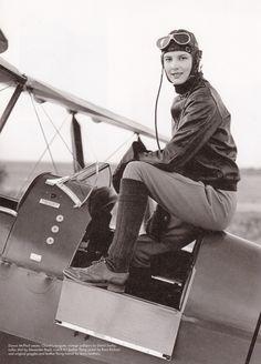 Female pilot or model?