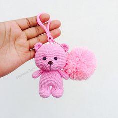 Kawaii Crochet, Crochet Teddy, Crochet Bear, Cute Crochet, Crochet Keychain Pattern, Crochet Amigurumi Free Patterns, Crochet Key Cover, Crochet Waffle Stitch, Crochet Slippers