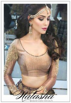 best matha patti or maang tikka hairstyles for party 2017 with open hair and curls