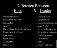 Boss Vs. Leader
