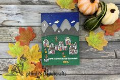 Litt Up, Spooky House, Interactive Cards, Lawn Fawn, Halloween Cards, Cardmaking, Paper Crafts, Led, Type