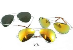f1030d688b G Chrome Metal Silver Mirrored Aviator Sunglasses 3 Pair Special Spring  Hinges