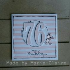 Made by Marie-Claire,  number of years, stampin'up