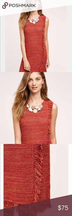 Anthropologie fringed dress Anthropologie fringed dress. Brand new with tags Anthropologie Dresses Mini