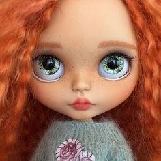 Ooak custom blythe doll handmade collection toy christmas gift