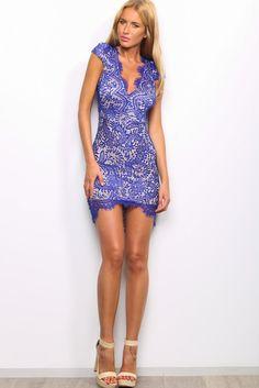 HelloMolly | Sultry Dress Cobalt - Dresses
