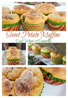 Sweet Potato Muffins are perfect for holiday breakfast, brunch or dinner. DadWhats4Dinner.com ©2015 #recipe
