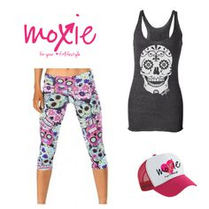 Fun fitness fashion for women! Moxie Fitness Apparel offers fun, fashionable fitness gear for your fit lifestyle! Workout Attire, Workout Wear, Fitness Gear, Fitness Fashion, Gym Style, Sugar Skulls, Grinding, Gym Wear, Barbell