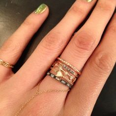 Ring stack - Catbird0 or the bottom one for the wedding band