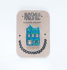 House Brooch 3 Bedroom by andsmile on Etsy, £6.00