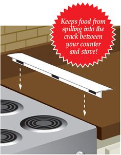 Stop spilling food and crumbs in between the stove and counter.  Finally!