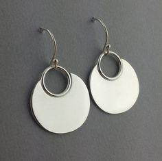 Argentium Sterling Silver Handmade Lotus Leaf Earrings by ArisDesignsJewelry on Etsy