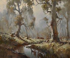 Paintings - Ivars Jansons - Page 3 - Australian Art Auction Records Australian Painting, Australian Artists, Most Beautiful Paintings, Beautiful Landscapes, Fantasy Paintings, Landscape Paintings, Classic Portraits, Seascape Art, Art Auction
