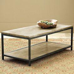"""Durham Coffee Table - Ballard Designs.  50""""W x 24""""D x 18-1/4""""H.  $399 retail."""