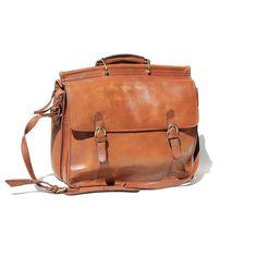 Vintage Bag / Men's Woodland Brown Leather Bag / by TanakaVintage