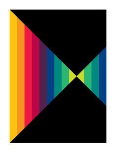 Tom Baker // Geometric Art by Gary Andrew Clarke Geometric Quilt, Abstract Geometric Art, Hard Edge Painting, Rainbow Quilt, Arte Pop, Art Plastique, Op Art, Pattern Art, Canvas Wall Art
