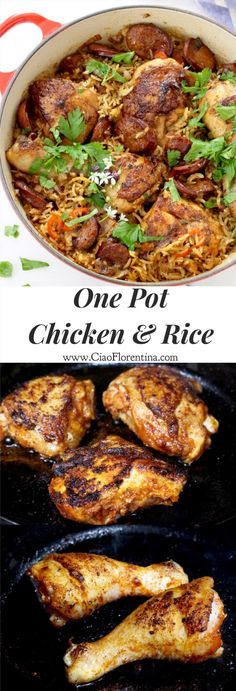 One Pot Chicken and Rice with Andouille and Quick Cook Brown Rice ...