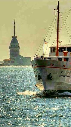İstanbul TURKEY Istanbul City, Istanbul Turkey, Beautiful World, Beautiful Places, Nice View, Sailing Ships, Coastal, Landscape, Steamers