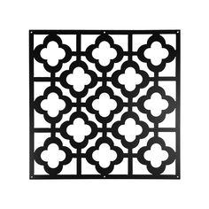 Dekoelemente Marokko, 4 Stück, B:40cm x L:40cm, schwarz, schwarz