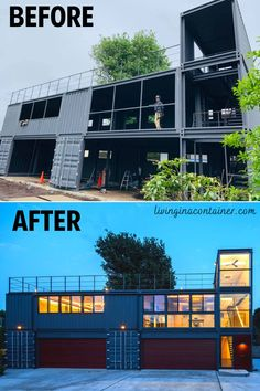 Building A Container Home, Container Buildings, Container Architecture, Shipping Container Home Designs, Container House Design, Shipping Containers, Shipping Container Cabin, Container Homes Australia, Br House