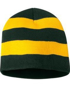PERSONALIZED KNIT BEANIE CAP RED RUGBY STRIPED TEAM SPORTS NU SCARF SET NAVY