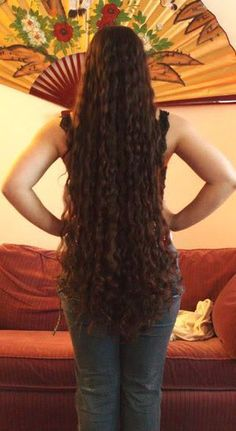 """Great to see such gorgeous long hair with the curl maintained. Hair is """"classic length. Curly Hair Tips, Long Curly Hair, Big Hair, Curly Hair Styles, Really Long Hair, Super Long Hair, Beautiful Long Hair, Gorgeous Hair, Long Hair Community"""