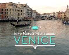 Explore the City of Canals via gondola! Travel under the Rialto Bridge as you glide along the famed Grand Canal on a private tour of this floating city during our Italy vacation!