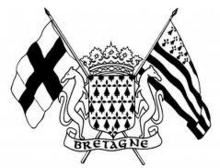 Blason de #Bretagne Folklore, Brittany, Herb, Tatoos, Cards, France, Tattoo Ideas, Brittany France, Coat Of Arms
