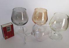 Vintage Miniature Brandy Cognac Balloon Glasses x 4 Coloured Mancave Home Bar in Collectables, Barware, Drinkware | eBay!