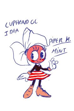 Cuphead OC concept by MamaBubbles