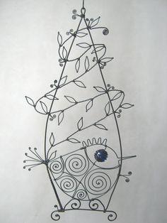 Wire Birdcage Sculpture