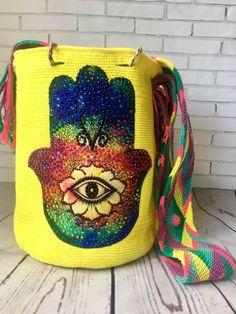 Authentic Wayuu Mochila Colombian Bag Large Beautiful Luxury Edition/Hamsa    eBay Hamsa, Vera Bradley Backpack, Large Bags, Saddle Bags, Backpacks, Luxury, Best Deals, Ebay, Beautiful