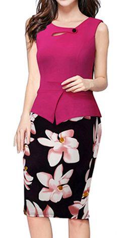 Women's Elegant Chic Bodycon Formal Dress