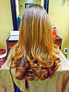 Teenage haircut and blow dry. Salon creations fort Myers fl